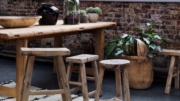 Nábytek Hranatá vintage stolička LONG