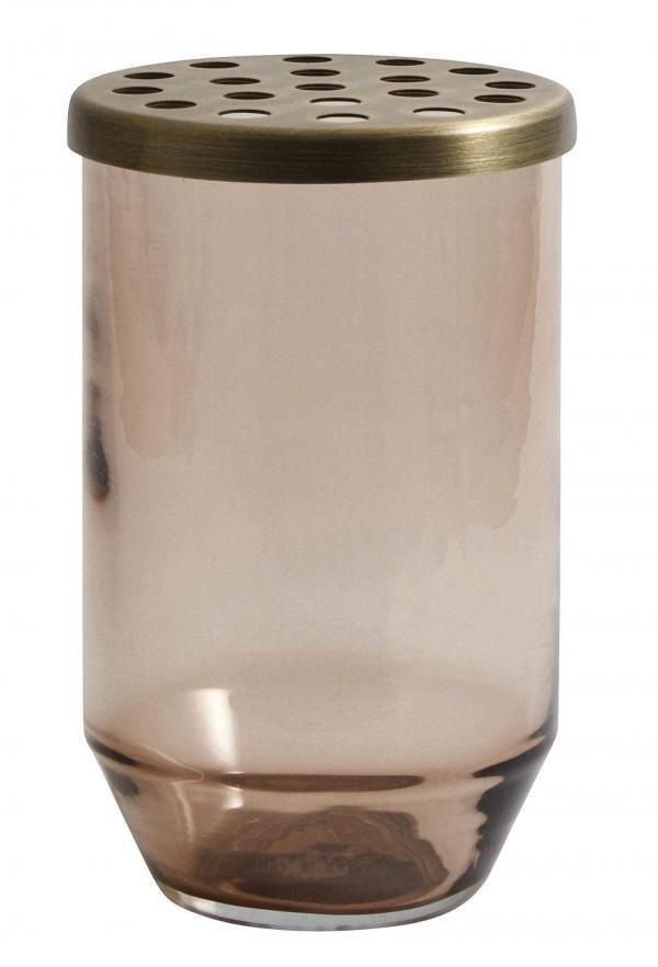 Vázy Skleněná váza BROWN S